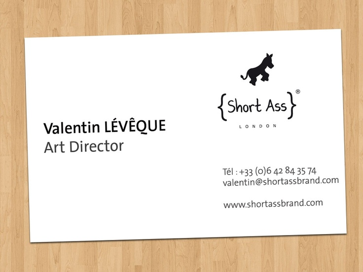 Business Cards - (Verso) Short Ass Brand - London based clothes brand
