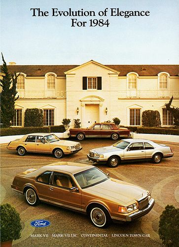 1984 Lincoln Mark VII, Lincoln LSC, Continental and Town Car advertisement