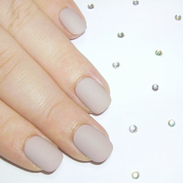 Matte Or Gloss Neutrals Short Squoval In 2018 Cute Nails Pinterest Acrylic Nailatte