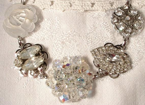 Bracelet made from vintage earrings