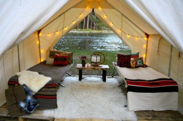 Glamping. Get a similar setup at walltentshop.com.  Camping done right.
