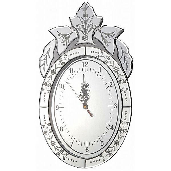 アンティークデザイン★ミラーフレーム掛け時計