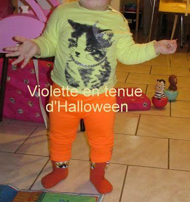 Fleur et Lumière: Violette aussi était en mode Halloween hier!!!!