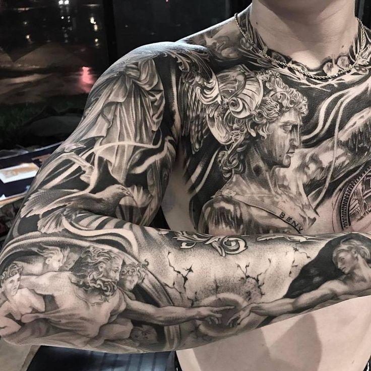 Beispiele von gut gelungenen Tätowierungen  Viele Motive sind so farbenreich gestochen, dass eine Entfernung hier viel Zeit in Anspruch nehmen würde.  #Tattoo #GutGelungen #Tattooentfernung