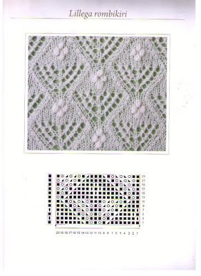Lilies and diamonds - Estonian Lace Knitting ~~ Веб-альбомы Picasa