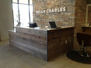 Used Desk For Sale >> Brian Charles Salon used barn siding for their ...