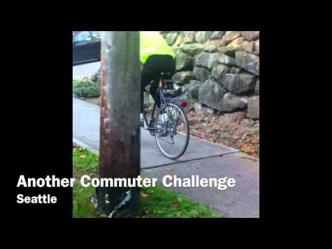 A Commuter Challenger During A Hard Workout Bike To Work