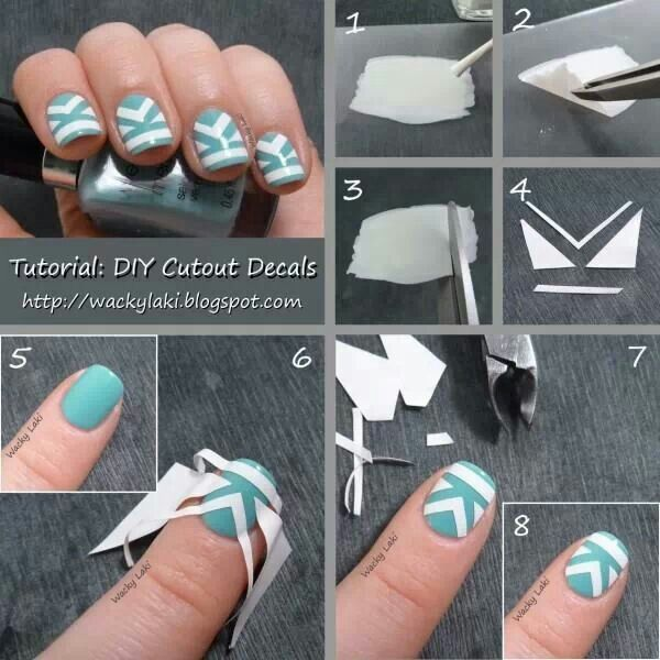 734 best nails nom images on pinterest 25 amazing diy nail ideas diy cutout decals tutorial featured in pic prinsesfo Gallery