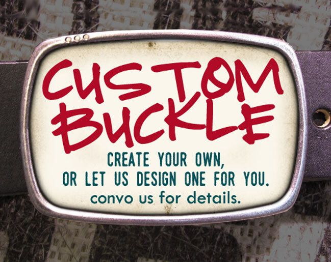Design Your Own Custom Belt Buckle by reganflegan on Etsy https://www.etsy.com/listing/74854712/design-your-own-custom-belt-buckle
