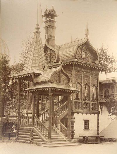 Russian wooden house. Old photo, 1889 #architecture