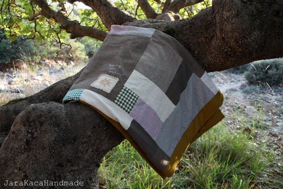 Morning Star Patchwork blanket recycled hand by JaraKacaHandmade