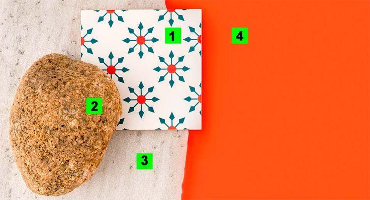 (1). O modelo AZG 214 (15 x 15 cm) faz parte da coleção Conspiração BR, desenhada pelo próprio Fábio para a Azulejaria Brasil. R$ 13,52 a unidade. (2). Ideais para forrar ou compor muros e paredes, os blocos brutos de granito saem por R$ 250 o m², na Pedras Pagliotto. (3).Chapas irregulares de granito (3 cm de espessura e formato variável) valem R$ 390 o m², na Pedras Pagliotto. (4). Tinta esmalte brilhante Coralit, na tonalidade lugar de Festa, da Coral. R$ 116 a lata (3,2 litros), na…