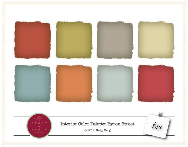 Exceptionnel Byron Street   Interior Color Palette   $45
