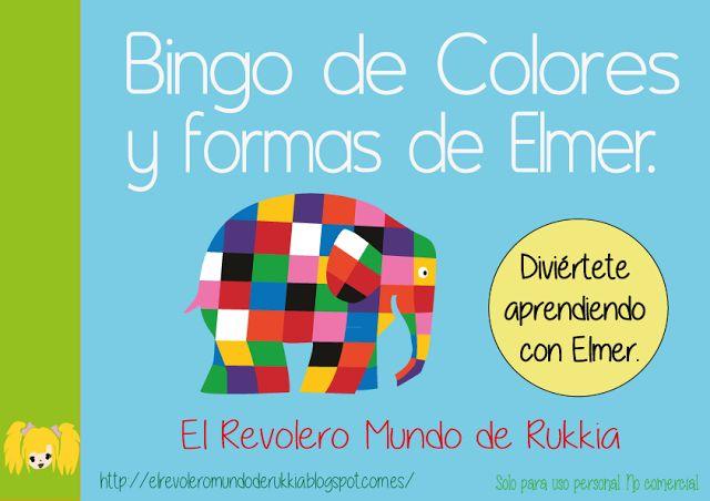 juego aprender colores, juego aprender formas, bingo para niños, juego elmer, juego identifacion de colores, juego identifiacion de formas, cuento elmer descargar, elmer descargar