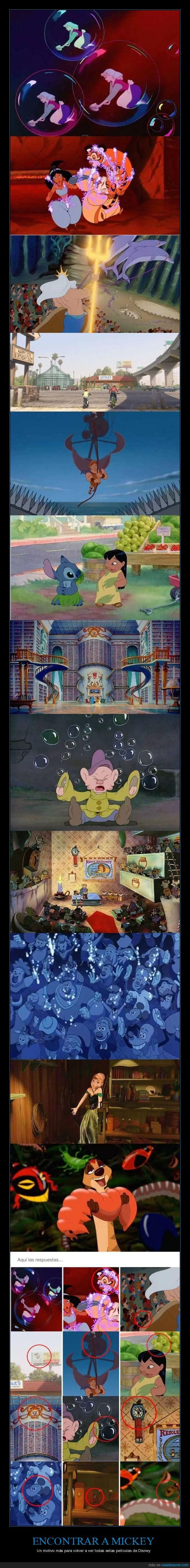 Encuentra al Mickey oculto en las películas de Disney