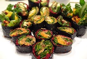 Raw Nori Rolls - We'll be making these with a Raw Ginger Teriyaki Pate in the next Raw Food Bali Workshop on April 8 - http://rawfoodbali.com/raw-food-fundamentals-april-8/