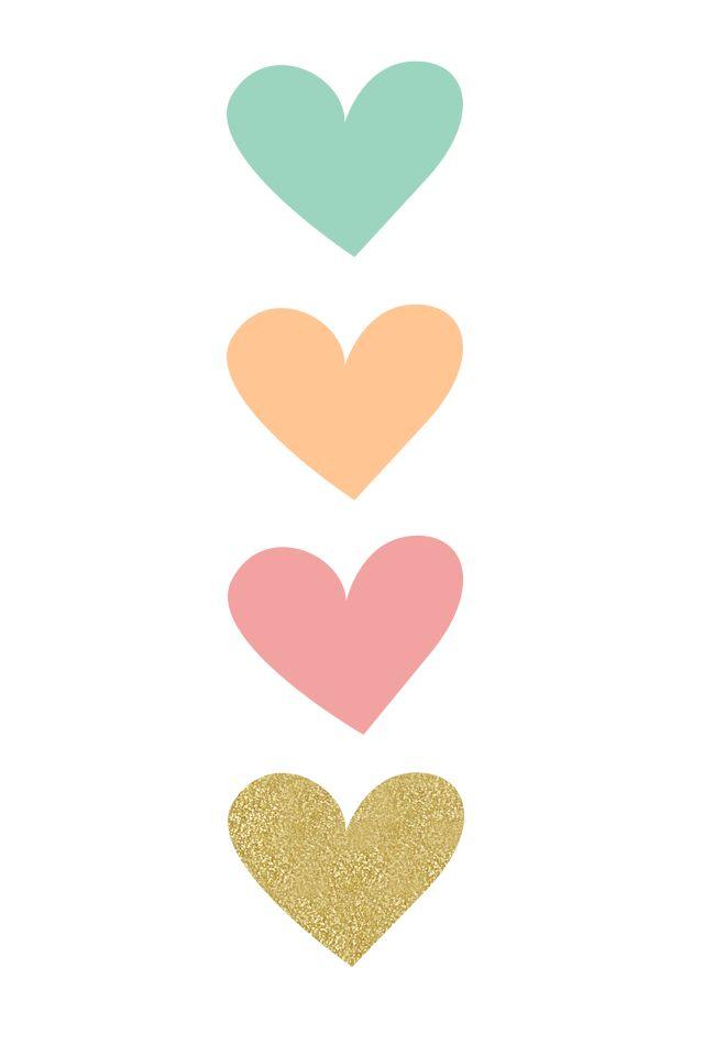 Hearts iphone phone wallpaper background lock screen