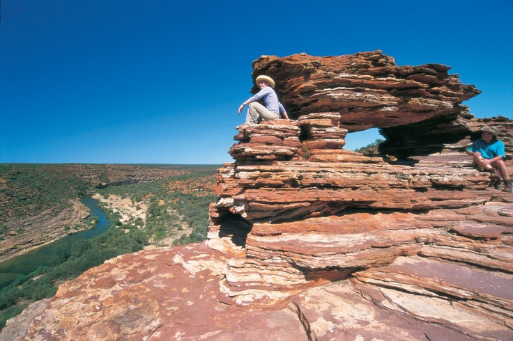 Nature's Window, Kalbarri National Park, Western Australia. This is just one of the examples at nature's ability to carve the landscape. Explore the vast beauty of this National Park.
