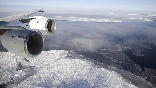 Antarctica hits highest temp recorded—63 F.   Satellite observations from 1994 to 2012 reveal an accelerating decline in Antarctica's massive floating ice shelves, with some shrinking by 18 percent, in a development that could hasten the rise in global sea levels, scientists say, according to scientists published in the journal Science.
