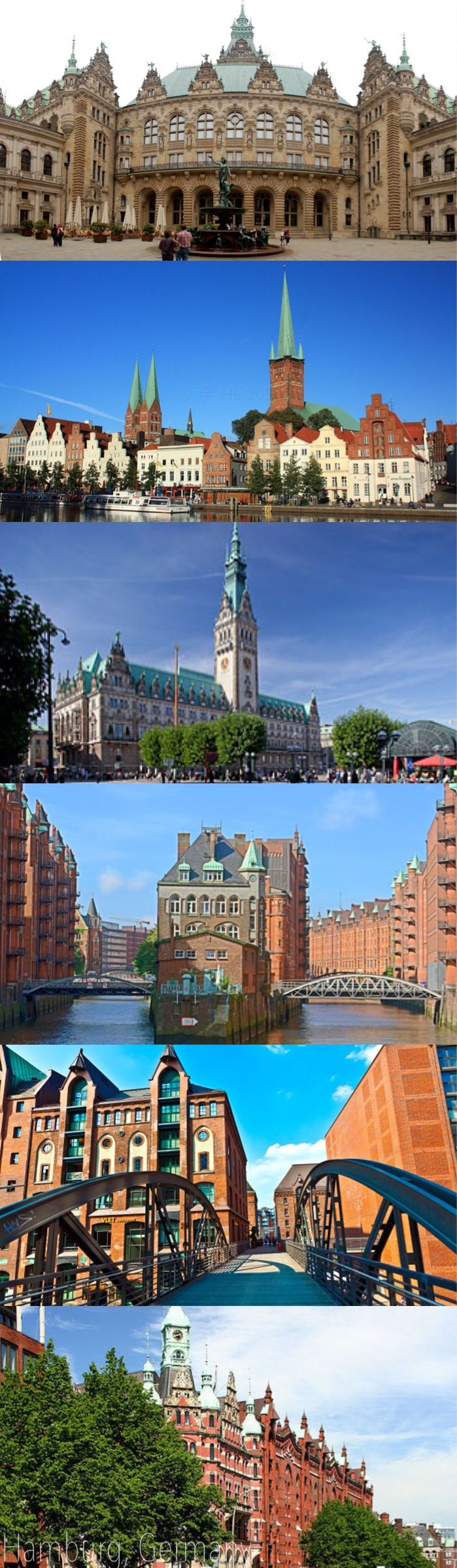 Hamburg, Germany's second largest city and home to 1,8 million people, is located in the North of the country. With a harbor, interconnecting waterways, and hundreds of canals, Hamburg has more bridges than Amsterdam and Venice combined, all adding up a to a great city with lots of maritime charm.