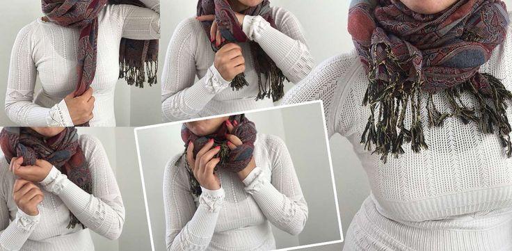 Come indossare una sciarpa, o una stola in 10 modi