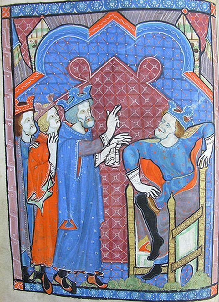 Gardecorps. Holes in sleeves not armpit Psalter GB (1270-1280) 013v
