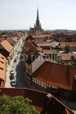 Altstadt Mühlhausen mit Turm der Marienkirche