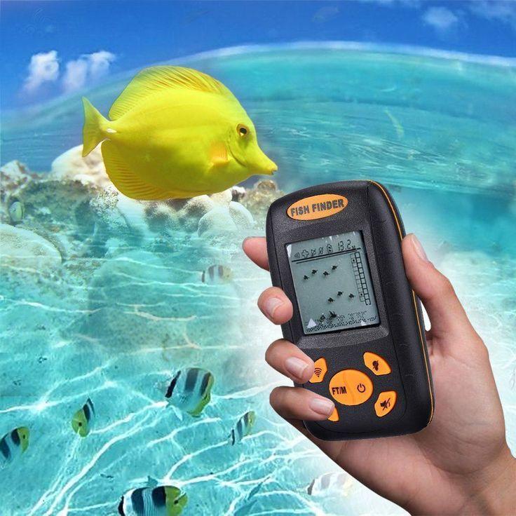 Portable Fish Finder Fishfinder Wireless Depth Sonar Sailing Boat Kayak Fishing