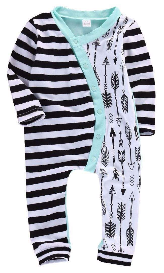 - Baby Boy - Romper - Long Sleeve Free Shipping! Please Allow 2-4 weeks for delivery.