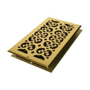 Decor Grates 6 x 12 Plated Brass Wall Register - spray this oil-rubbed bronze
