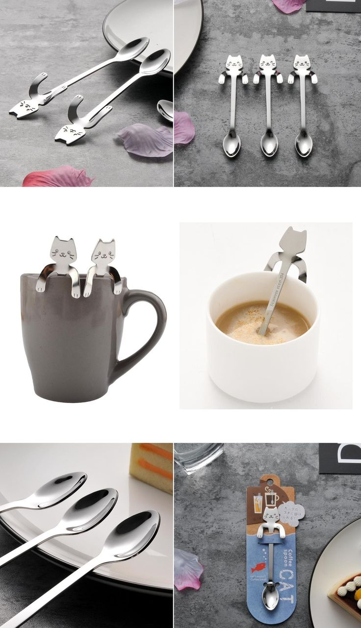 If you like cats and home decoration then these Stainless Steel Cat Teaspoons are the perfect choice for you! The pawsome spoons are the best if you want to fill your house with cat related decor.