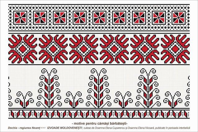 Romanian traditional motifs - MOLDOVA - Neamt, sat: Dochia