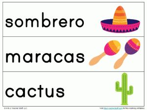 Cinco de Mayo / Mexico vocabulary word cards for your word wall or pocket chart  http://atoztea.ch/Jgn2sz