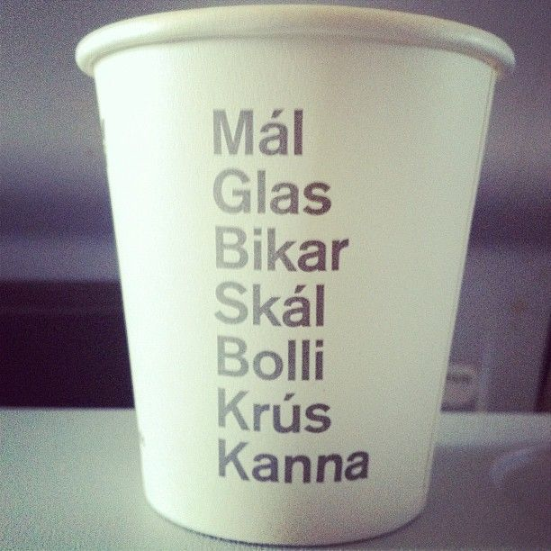 7 word for cup in Icelandic #Iceland #icelandair - @poorboyoftroy- #webstagram