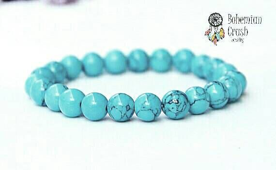 Check out this item in my Etsy shop https://www.etsy.com/ca/listing/494374571/turquoise-natural-gemstone-bracelet-yoga