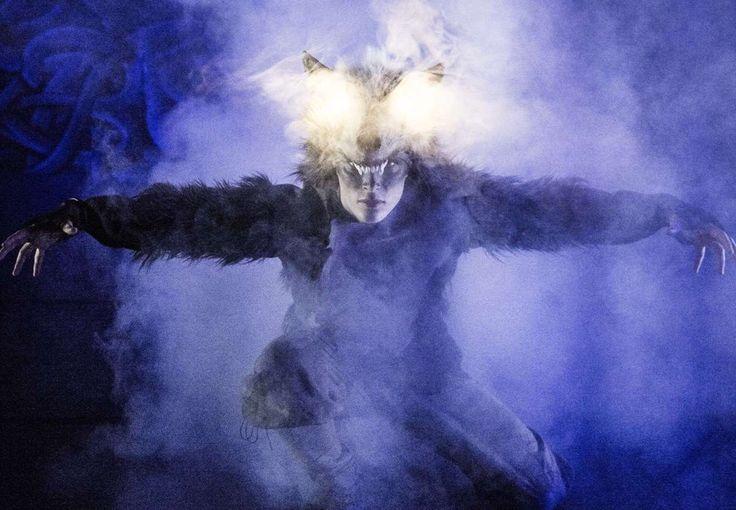 Fenris wolf . Fenrisulven.  Andreas roksvåg, dancer , actor  Magnus skrede photo  Linn therese michelsen costumedesign  Playing at Den Nationale Scene, Bergen Norway.