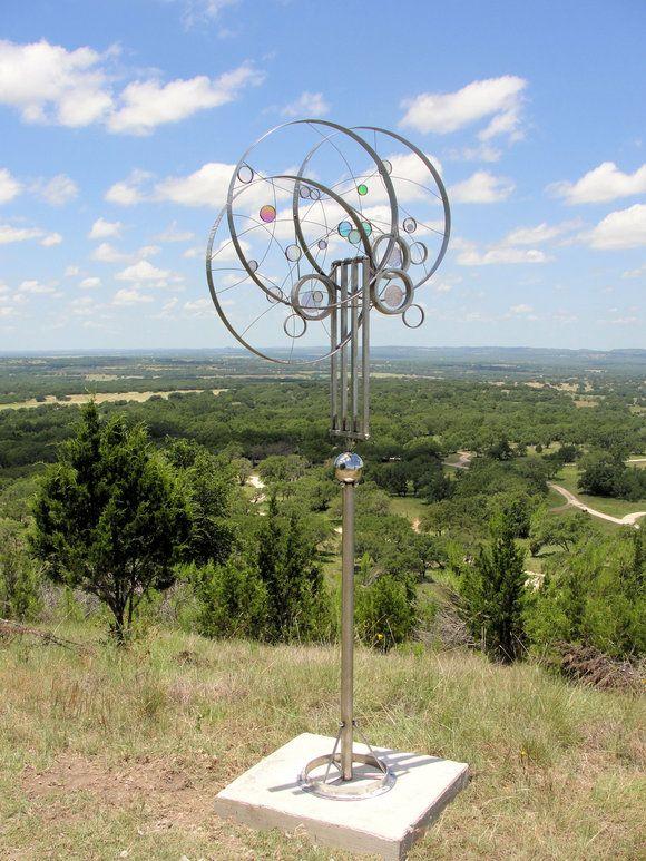 Triple Eclipse Kinetic Wind Monumental Sculpture By LaPaso   Kinetic