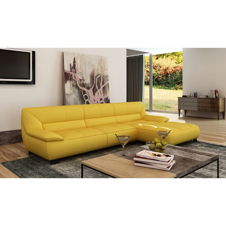 Yellow Leather Sectional Sofas: 25+ Best Ideas About Leather Sectional Sofas On Pinterest