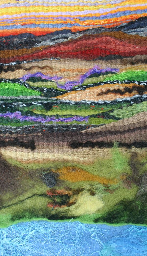 Woven wool and silk with synthetic fibres