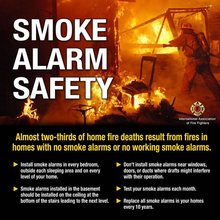 Pin by IAFF on Public Safety Messages Smoke alarm safety