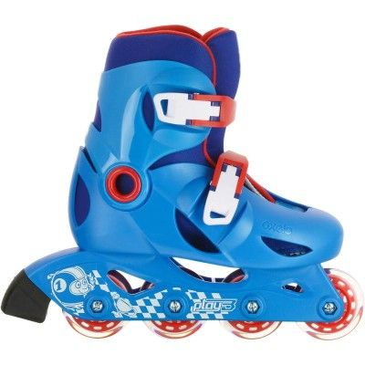Deporte Roller Patines, Skates, Patinetes - Patines en línea Fitness para niños Roller PLAY 3 Azul Rojo OXELO - Patines Línea
