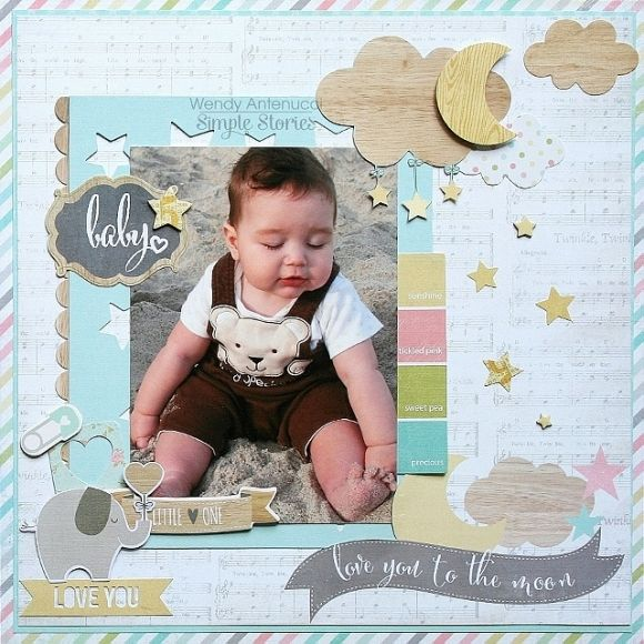 SN@P! Pages using Hello Baby and Good Day Sunshine   Simple Stories
