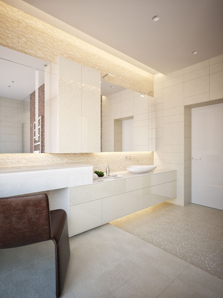 Outstanding Modern Interior Design Idea Led Lights Applied In Bathroom Design Of Contemporary Modern House