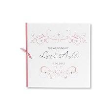 lucy dusky pink wedding invitation