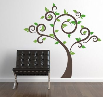 Best Wall Decals Images On Pinterest Adhesive Black And - How to put up a tree wall decal