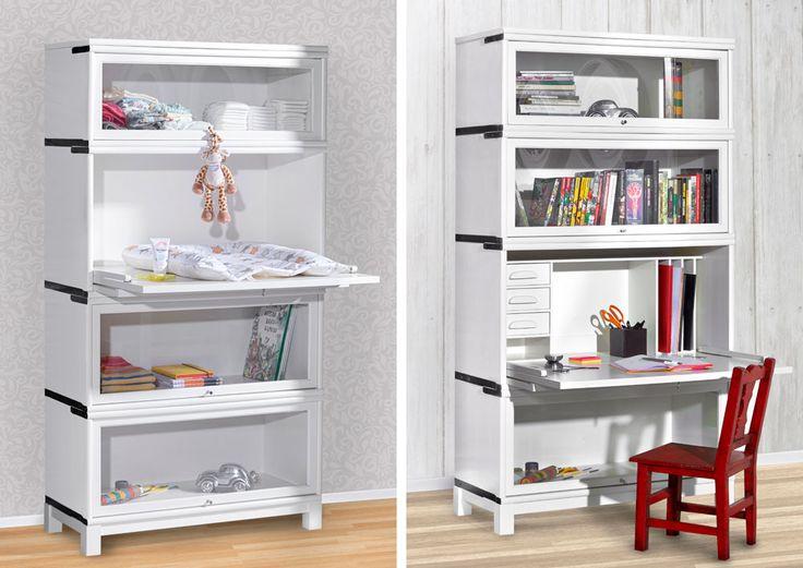 Boknäs kirjahylly muuntautuu moneksi, sopii hyvin myös lastenhuoneen sisustukseen.