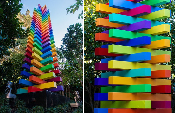 The rainbow tones of the Sang Siren entered by Sang Architects & Company Ltd and created by artist Michael Smither was awarded the Resene Total Colour Display + Product Award. This Siren is just mouthwatering. Its form and colour is delicious, it's exciting and pure. With the perfect proportions it could still be amazing without colour, but the colour adds so much intrigue.