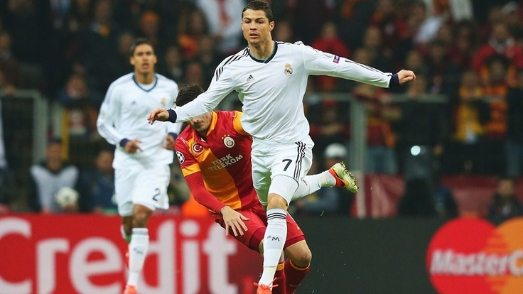 ~ Crisitano Ronaldo of Real Madrid against Galatasaray in the UEFA Champions League ~