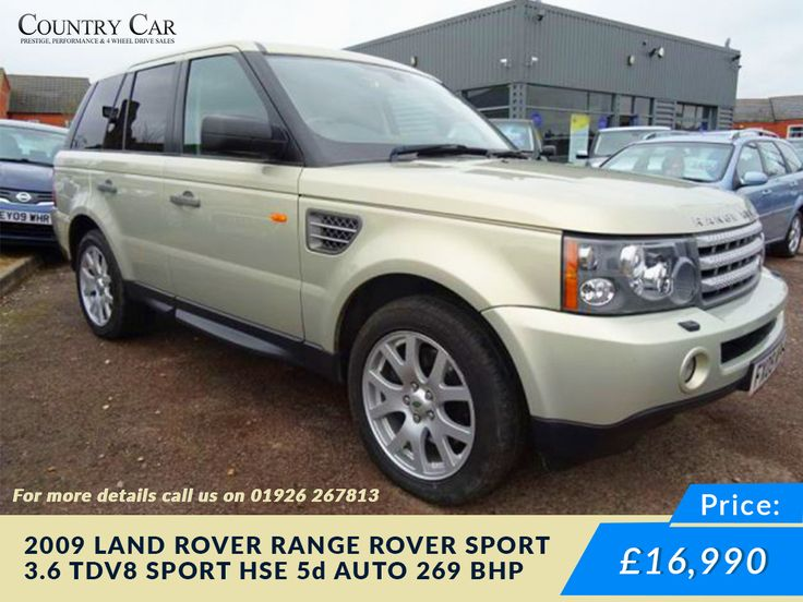 £13,990 | 2009 09 #LAND ROVER RANGE ROVER SPORT 3.6 TDV8 SPOR #used land rover #used car Visit Us - www.countrycar.co.uk 01926 267813 / 07441 906677