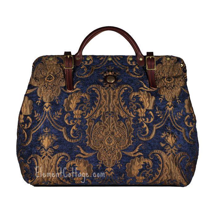 Blue Carpet Bag by Victorian Traveler | LG Blue Danube - Element Cottage
